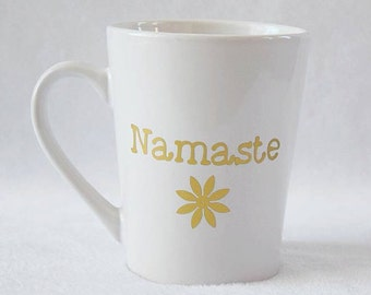 Namaste coffee mug/yoga/coffee cup