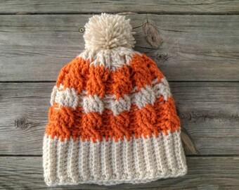 Crochet Cables Winter Hat