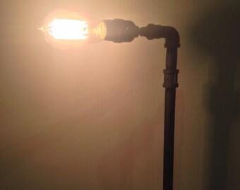 Pipe lamp / steampunk lamp / desk lamp / Black pipe lamp / table lamp / unique lamp / edison lamp