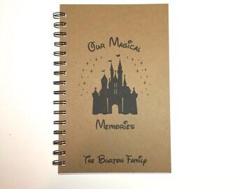 Disney Autograph Book, Disney Memory Book, Castle, Disney Memories, Disney Journal, Personalized, Notebook, Journal, Disney Vacation, Kids