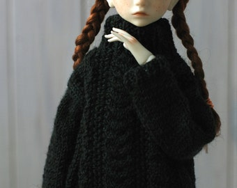 MSD Oversized Knit Dark Green Sweater/Pullover - BJD Clothes