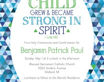 First Communion/Confirmation Invitation
