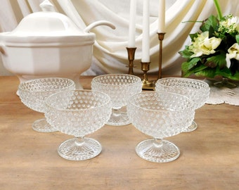 Hobnail Dessert Dishes Set of 5