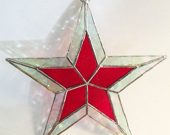 NEW PRODUCT! Stained Glass Stars 5 1/2 inches Beautiful SUNCATCHER Christmas Ornaments or Gifts