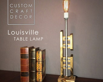 Louisville Rustic Industrial Table Lamp - Rustic Lighting - Vintage Style - Industrial Decor