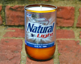 Natural Light (Natty) Beer Bottle Candle