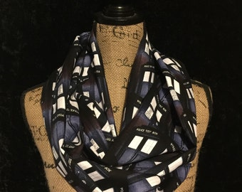 Doctor Who Scarf Doctor Who Blue Tardis Infinity Scarf