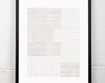 Lines print, Abstract art, Minimalist art print, Minimalism, Minimal design, Modern art, Chic art, Earth tones, Pastel colors, Wall decor