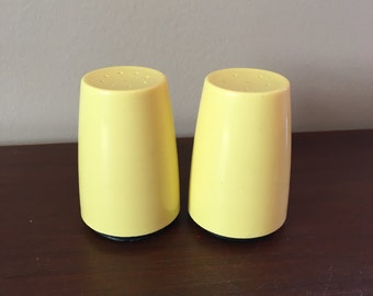 Vintage Yellow Salt and Pepper Shakers