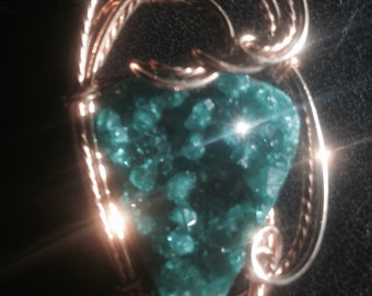Dioptase necklace
