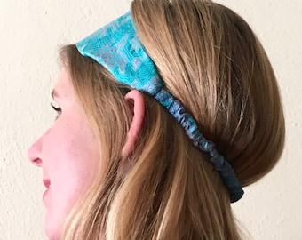 UPcycled Sari headband blue
