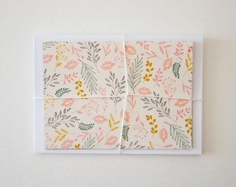 stationary cards, bridesmaid gift, stationery set, blank note cards, note card set, modern stationery, floral stationary, floral note cards