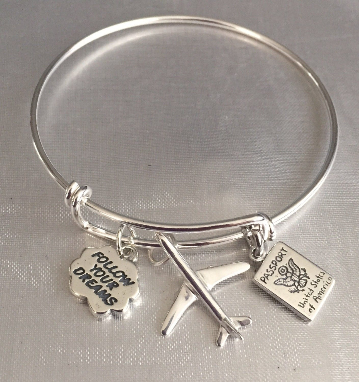 travel bracelet sterling silver charms and by sugarmeuptwo