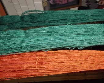 Hand-dyed alpaca yarn - lace weight - 2 ply
