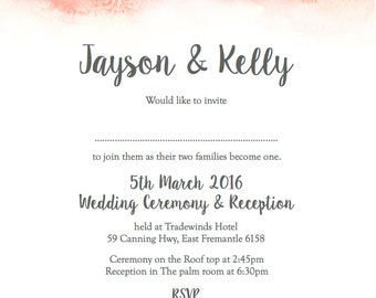 50 Elegant Watercolour Wash Wedding Invitations!