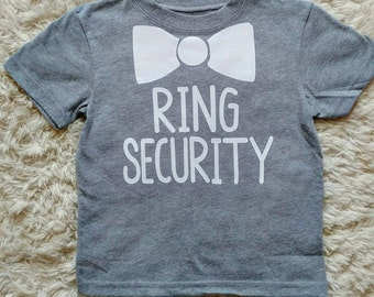 Ring Security ring bearer shirt// wedding party// boys, toddler, kids