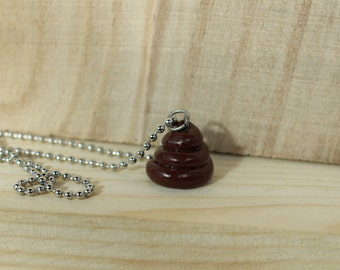 Poop necklace with chain