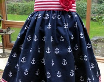 Nautical, Girls dress, Cruise Wear, Birthday, Summer, Special Occasion, Spring, Pageant, Couture ****SALE****