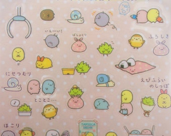 Sumikko Gurashi stickers - kawaii stickers - kawaii San-X stickers - Japanese stickers - friends of Sumikko Gurashi - small planner stickers