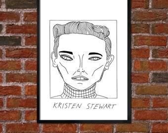 Badly Drawn Kristen Stewart - Poster