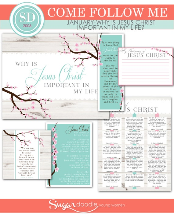 "LDS YW Come Follow Me - January - ""Why is Jesus Christ important in my life?"" - Printable Lesson Helps - MB"