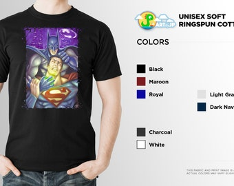 Batman v Superman Shirt | PREMIUM QUALITY | Soft Cotton | DC Comics | Superhero | Comic Tee | Geek Clothing | T-Shirt | Geek Tee | Geek Gift