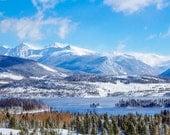 Colorado Mountains, Mountain lake photography, Dillon Colorado, nature art print, God's country, nature art print, steaming lake