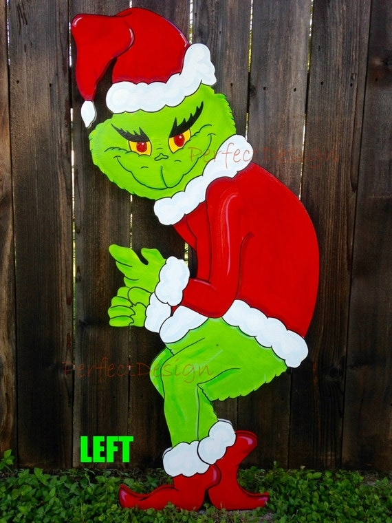 grinch stealing christmas lights lawn decoration hallow