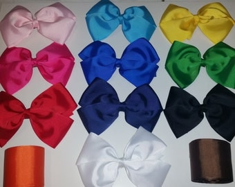 """Extra Large 6"""" Bow - Choose from 13 Different Colors"""