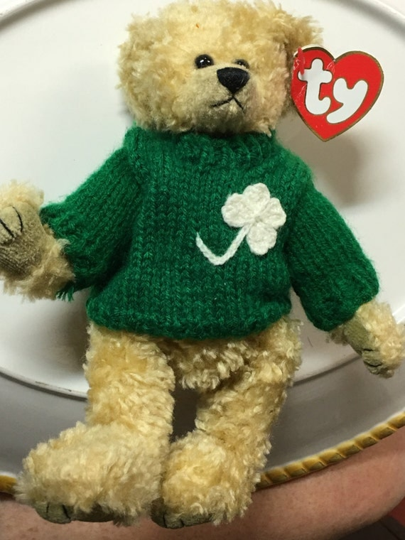 Ty Beanie Babies Attic Treasures Blarney Iris Teddy Bear