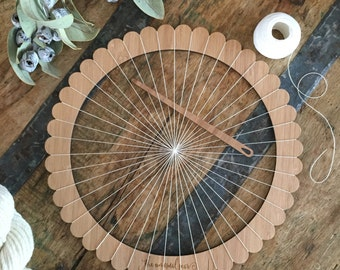 Large Round Bamboo Weaving Loom