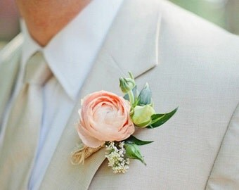 peony flower,bridal accessories,wedding boutonniere