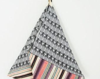 ethnic tote bag, original geometric fabric, tribal fabric, original geometric shoulder bag, unique gift for her, unique tote bag, summer