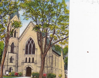 First Methodist Episcopal Church Whitewater Wisconsin Vintage Postcard Divided Back Made in Germany Paper Ephemera Unused