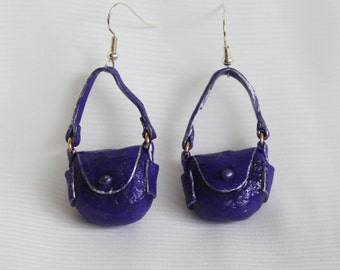 Handmade handbag earrings
