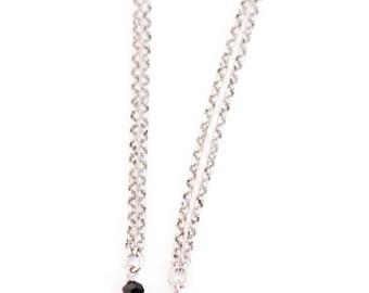 Bracelet black spinels with OWL.