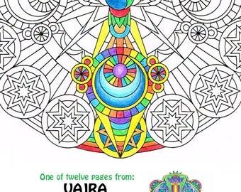 Mandala Coloring Page Core Of Life Printable