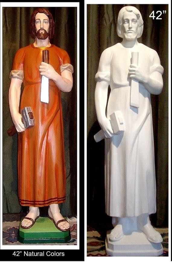 "St. Joseph The Worker 42"" Fiberglass Catholic Christian Religious Statue"