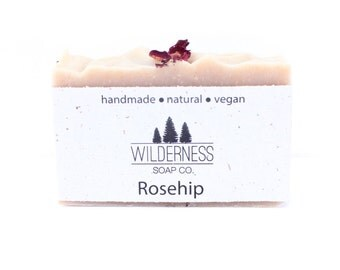 Rosehip Soap, Natural Soap, Vegan Soap, Palm Free Soap, Handmade Soap, Cold Process Soap