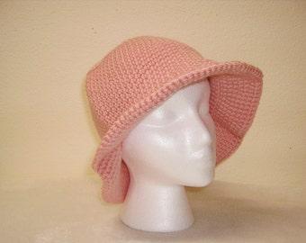 Pink Adult Acrylic Crochet Hats