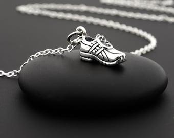 Running Shoe Charm Necklace, Runner Girl, Sterling Silver, Runner Gifts, Fitness Necklace, Running Necklace, Running Gifts, Sneaker Charm