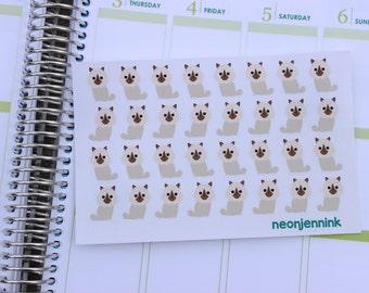 Cream Ragdoll Kitten Stickers
