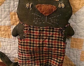 Primitive Cat doll Folk art Kitty Faap Hafair team Team Haha