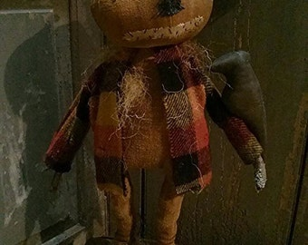 Primitive Scarecrow Pumpkin man Pumpkin doll Crow Fall Halloween Faap Hafair team Team Haha