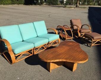 Vintage Rattan Outdoor Furniture