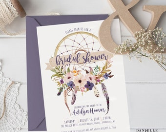 Dream Catcher Bridal Shower Invitation (DIGITAL FILE)