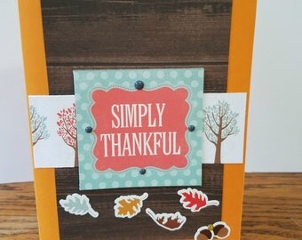 Thank you card / blank card / Thanksgiving card