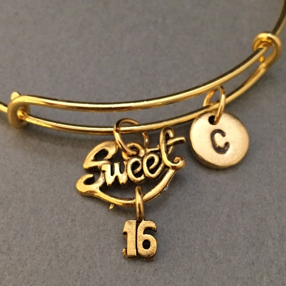 Sweet 16 Charm Bracelet: Sweet Sixteen Bangle Sweet Sixteen Charm Bracelet Expandable