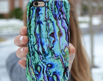 1310 // Abalone Pearl Shell Blue Purple Green iPhone 6 iPhone 6 Plus iPhone 5 Samsung Galaxy S5 S6 Phone Case