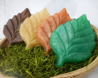 Leaf Soaps - Fall Leaves - Autumn Soap Favors - Thanksgiving Soap - Fall Soap Decor - Fall Wedding Soap Favors - Autumn Leaf Decor - 3 pk